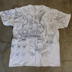 Simpsons Liquid Blue Sketch Drawing T Shirt